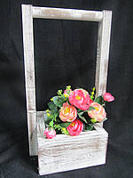 Ящик из дерева для цветов, 15,5х15,5х35см, 125\95 (за 1 шт + 30 грн)