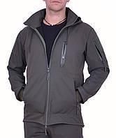 Куртка SOFT SHELL Хаки с боковыми молниями под кобуру, фото 1