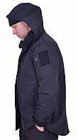 Куртка SOFT SHELL Черная с боковыми молниями под кобуру, фото 1