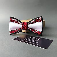 Галстук-бабочка I&M Craft в украинском стиле с вышивкой (010297)