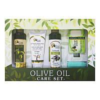 Набор SELESTAsenses Olive senses для тела Шампунь/гель для душа/крем/мыло с оливковым маслом и перчатка (5000002)