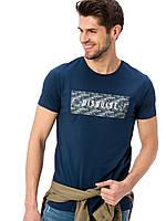 Синяя мужская футболка Lc Waikiki / Лс Вайкики с надписью Disguise, фото 1