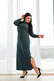 Длинное в пол женское платье (4расцв)  50-56р., фото 3