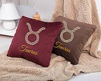 Подушка подарочная гороскоп «Телец» флок
