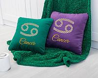Подушка подарочная гороскоп «Рак» флок, фото 1