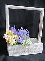 Ящик из дерева для цветов, 27,5х15,5х37см, 130\100 (за 1 шт + 30 грн)