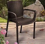 Комплект садових меблів BALI MONO - MELODY (4+1) темно-коричневий (Keter), фото 5