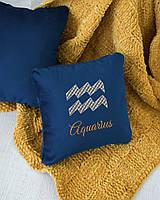 Подушка подарочная гороскоп «Водолей» флок, фото 1