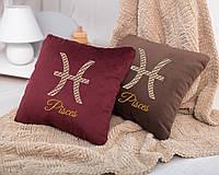 Подушка подарочная гороскоп «Рыбы» флок, фото 1