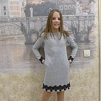 Теплое детское трикотажное платье, фото 1