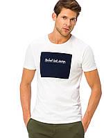 Белая мужская футболка Lc Waikiki / Лс Вайкики с надписью Perfect look design, фото 1