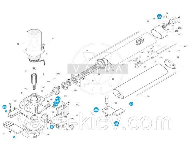 Монтажный комплект CAME KRONO 119rid163