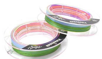 Шнур Kosadaka PE Super Line X8 150м Multicolor диаметр в ассортименте 0.16 мм