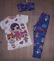 Летний костюм для девочек от 2 до 8 лет, фото 1