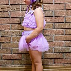 Купальник раздельный детский сиреневый -161-06, фото 2