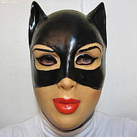 Маска кошки на Хэллоуин, маска женщины кошки