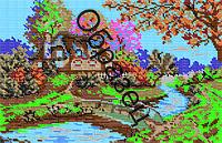 """Схема для вышивки бисером """"Осень в деревне"""""""