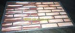 Кирпич гибкий из мраморной крошки (клинкер) многоцветный с красителем и посыпкой, с голографическим  эффектом, фото 8