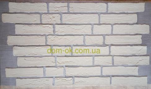 Кирпич гибкий из мраморной крошки (клинкер) в стиле кантри(хаотическая кладка), цвет КРЕМ