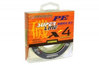 Шнур Kosadaka PE Super Line X4 150 м Multicolor диамнтр в ассортименте