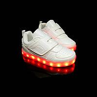 Кроссовки светящиеся детские White 687