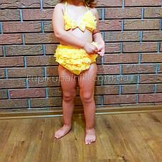 Купальник роздільний дитячий жовтий-161-05, фото 3