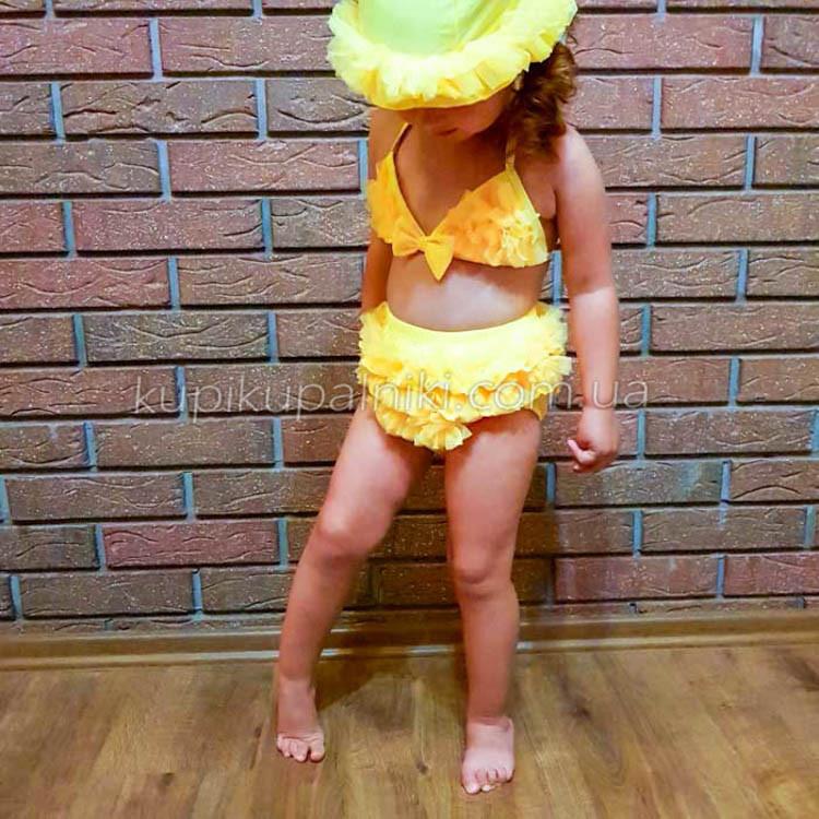Купальник роздільний дитячий жовтий-161-05
