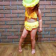 Купальник раздельный детский жёлтый-161-05