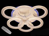 Потолочная LED-люстра с диммером и подсветкой, 65W, фото 1