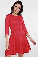 Замшевое платье красное, фото 1