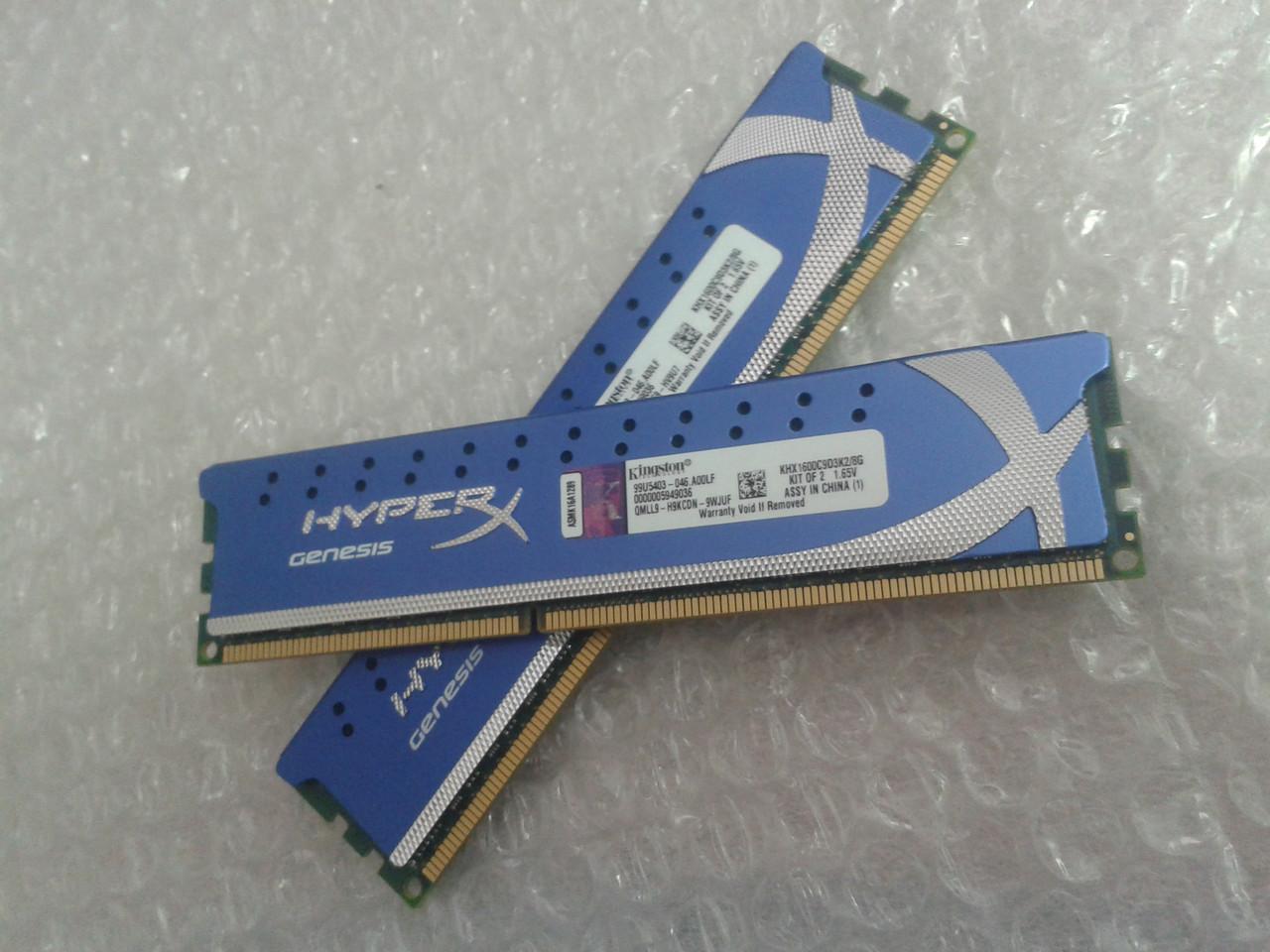 Модуль памяти Kingston HyperX, 8GB DDR3 1600MHz, KHX1600C9D3K2/8G, (2*4Gb), для ПК