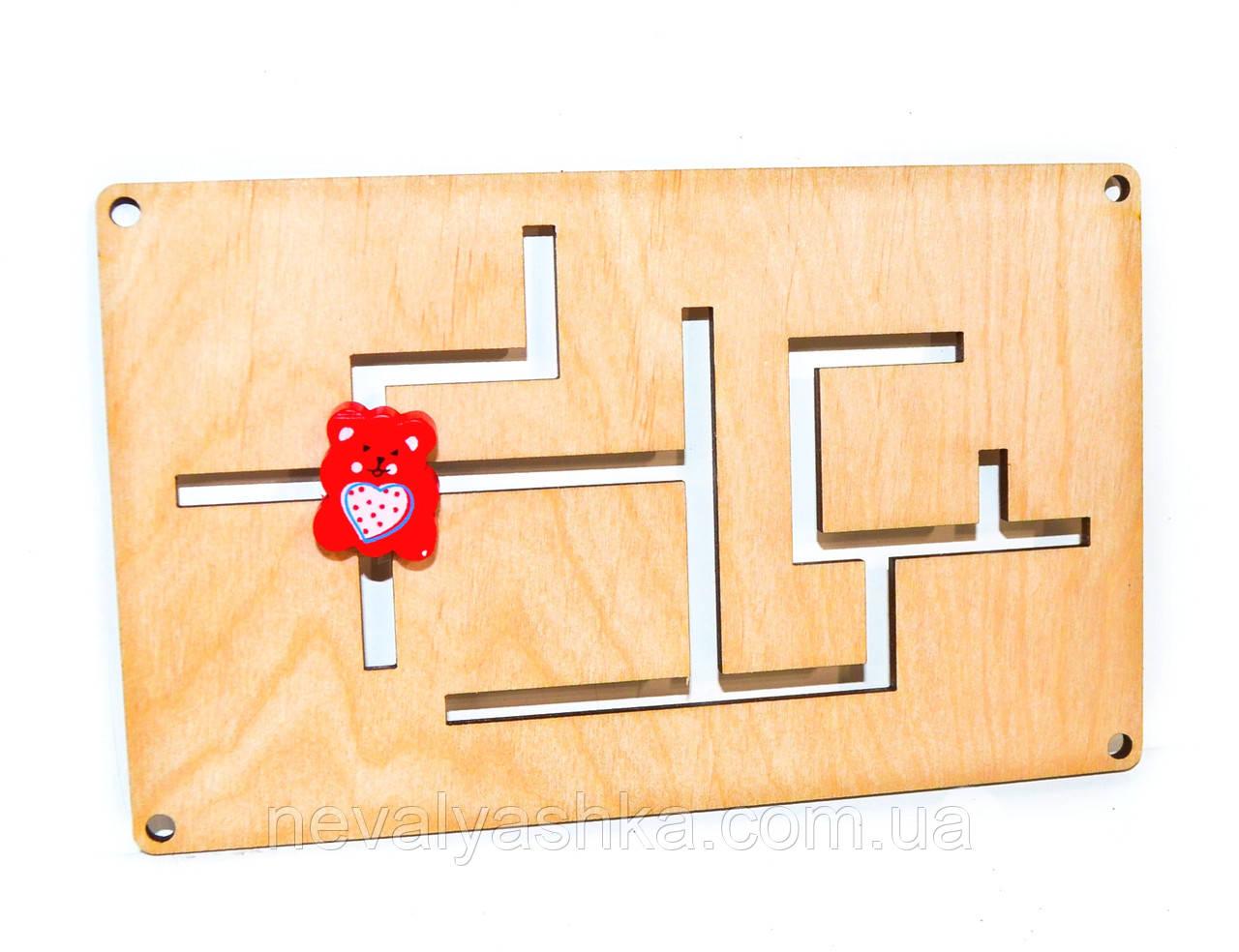 Деревянный Лабиринт для бизиборда + Ползунок дерев'яний лабіринт для бізіборда заготовка для бизиборда декупаж