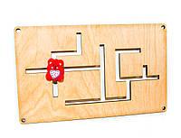 Деревянный Лабиринт для бизиборда + Ползунок дерев'яний лабіринт для бізіборда заготовка для бизиборда декупаж, фото 1