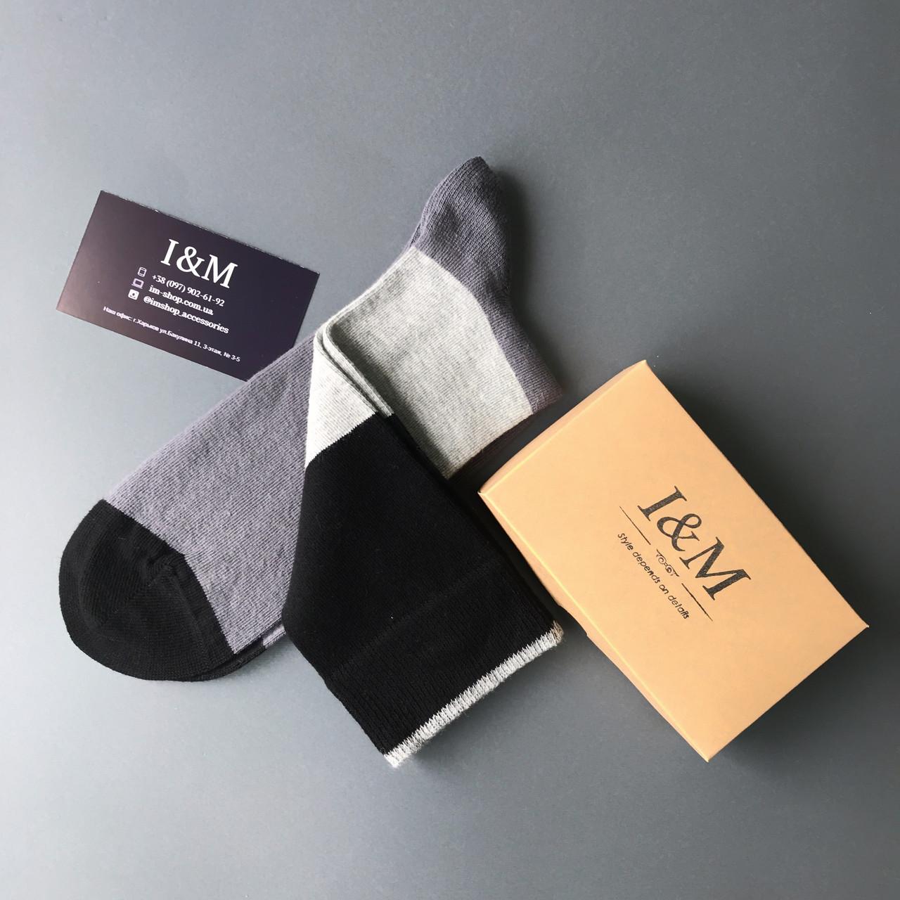 Носки I&M Craft серые с белым и черным (070211)
