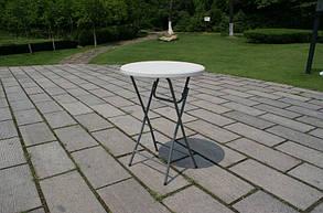 Стол складной круглый Time Eco ТЕ-1832, белый, фото 2
