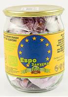 Стеклянная банка с сувенирными купюрами Денежный подарок Евро закуска