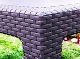 Комплект садових меблів BALI MONO - MELODY QUARTET (4+1) графіт (Keter), фото 6