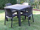 Комплект садових меблів BALI MONO - MELODY QUARTET (4+1) графіт (Keter), фото 2