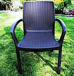 Комплект садових меблів BALI MONO - MELODY QUARTET (4+1) графіт (Keter), фото 7