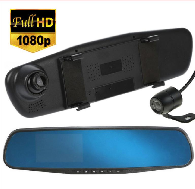 Автомобильный Видеорегистратор зеркало DVR A1 с двумя 2 камерамию Супер цена! Хорошие скидки!