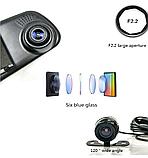 Автомобильный Видеорегистратор зеркало DVR A1 с двумя 2 камерамию Супер цена! Хорошие скидки!, фото 3