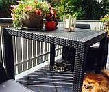 Комплект садових меблів BALI MONO - MELODY QUARTET (4+1) графіт (Keter), фото 10