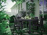 Комплект садових меблів BALI MONO - MELODY QUARTET (4+1) графіт (Keter), фото 9