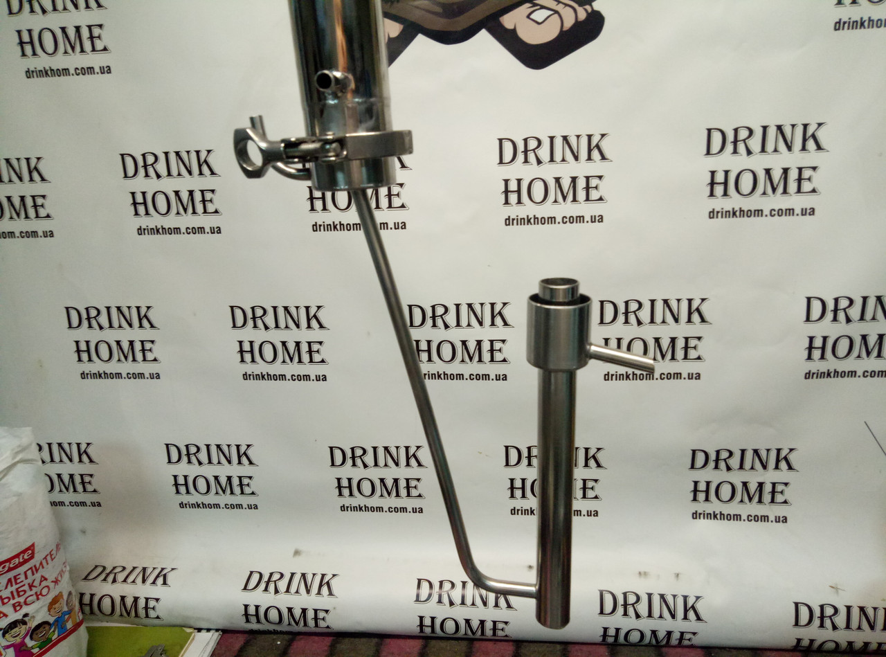 Нержавеющий Попугай для измерения крепости дистиллята или спирта. Способ подключение кламповое соединение.