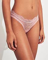 Женские розовые ажурные стринги Gilly Hicks, фото 1