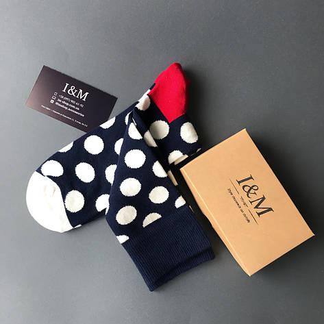 Носки I&M Craft темно-синие в белый горох (070215), фото 2