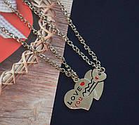 """Парные кулоны для влюбленных """"Сердце с ключиком"""""""
