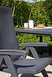 Комплект садових меблів MONTREAL - MELODY QUARTET (4+1) темно-коричневий ( Keter ), фото 6