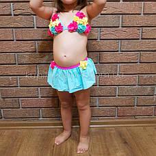 Купальник детский раздельный бирюзовый -161-03, фото 3