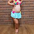 Купальник детский раздельный бирюзовый -161-03, фото 4